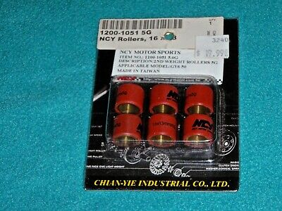 3.5g 16 x 13 mm, 6 pcs Prima Scooter Roller Weight Set Scooter Part