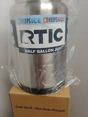 NEW RTIC Hot Cold Double Wall Vacuum Insulated Half Gallon Jug Stainless