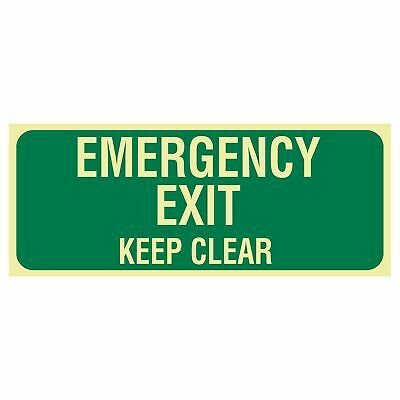 Exit and Evacuation Signs -  EXIT SIGN - EMERGENCY EXIT KEEP CLEAR