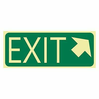 Exit and Evacuation Signs -  EXIT SIGN - EXIT ARROW TOP RIGHT