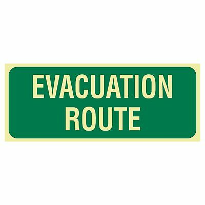Exit and Evacuation Signs -  EXIT SIGN - EVACUATION ROUTE