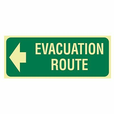 Exit and Evacuation Signs -  EXIT SIGN - EVACUATION ROUTE ARROW LEFT
