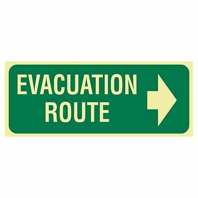 Exit and Evacuation Signs -  EXIT SIGN - EVACUATION ROUTE ARROW RIGHT