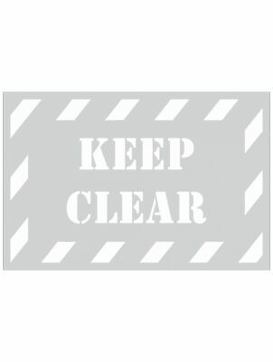 Safety Stencils -  KEEP CLEAR STENCIL