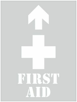 Safety Stencils -  FIRST AID STENCIL