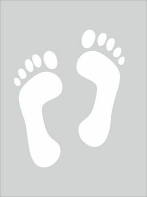 Safety Stencils -  FOOT PRINT STENCIL