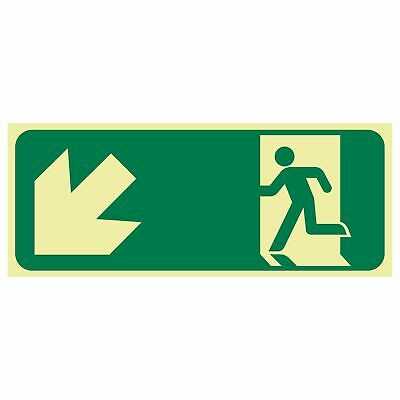 Exit and Evacuation Signs -  EXIT SIGN - RUNNING MEN ARROW BOTTOM LEFT