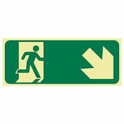 Exit and Evacuation Signs -  EXIT SIGN - RUNNING MEN ARROW BOTTOM RIGHT