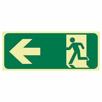 Exit and Evacuation Signs -  EXIT SIGN - RUNNING MEN ARROW LEFT