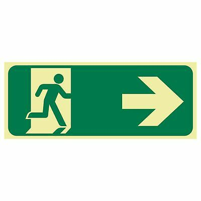 Exit and Evacuation Signs -  EXIT SIGN - RUNNING MEN ARROW RIGHT