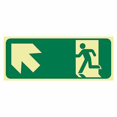 Exit and Evacuation Signs -  EXIT SIGN - RUNNING MEN ARROW TOP LEFT