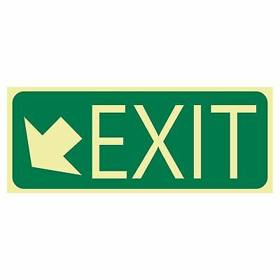 Exit and Evacuation Signs -  EXIT SIGN - EXIT ARROW BOTTOM LEFT