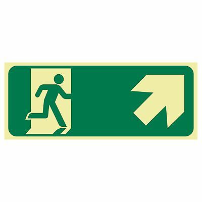 Exit and Evacuation Signs -  EXIT SIGN - RUNNING MEN ARROW TOP RIGHT