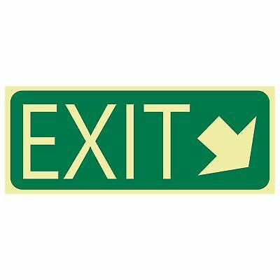 Exit and Evacuation Signs -  EXIT SIGN - EXIT ARROW BOTTOM RIGHT