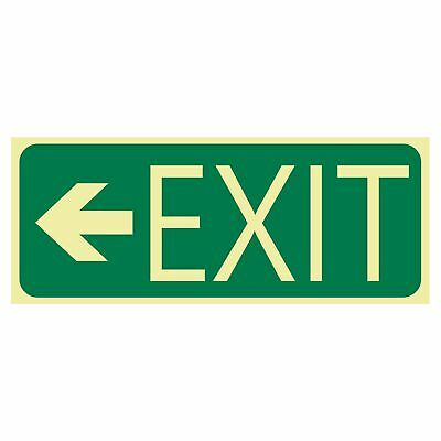 Exit and Evacuation Signs -  EXIT SIGN - EXIT ARROW LEFT