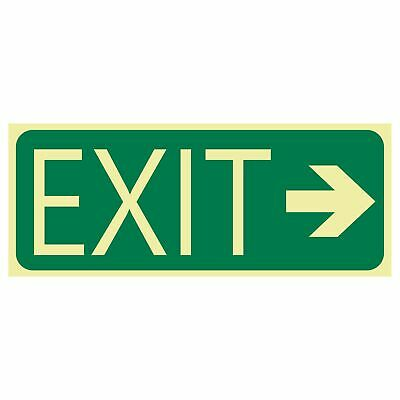 Exit and Evacuation Signs -  EXIT SIGN - EXIT ARROW RIGHT