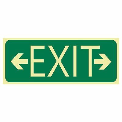 Exit and Evacuation Signs -  EXIT SIGN - EXIT ARROW LEFT AND RIGHT