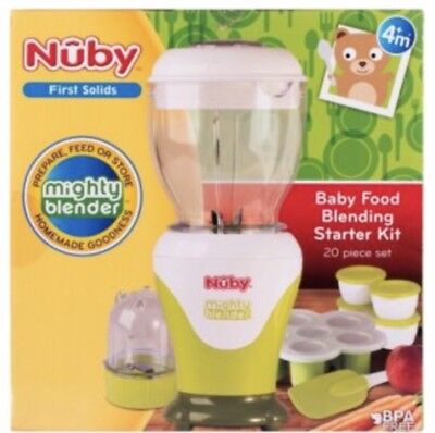nuby first solid  baby food blending  starter kit