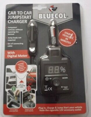 Starts Vehicle in Minutes Bluecol BIC000 Car To Car Jump Start Charger