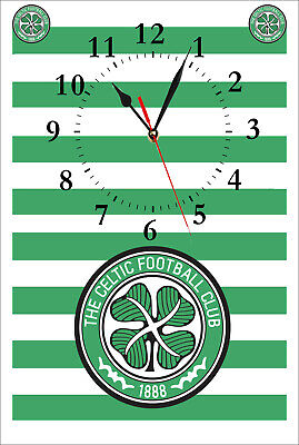 Celtic Football Club Wall Clock. Great Gift For Any Fan. Man-Cave. Bar Etc