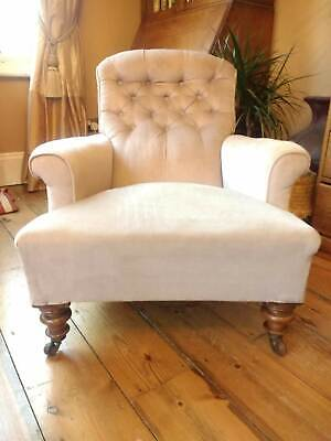 Lovely Victorian Howard style armchair