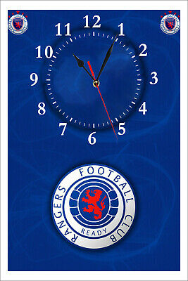 Rangers Football Club Wall Clock. Great Gift For Any Fan. Man-Cave. Bar Etc