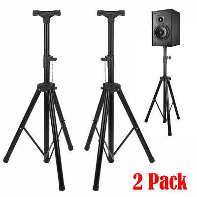Pair Of Ignite Pro Tripod Dj Pa Speaker Stands Adjustable Height Stand