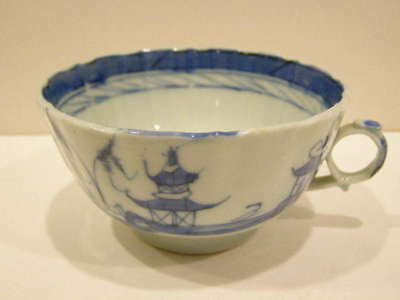 Antique Chinese Blue And White  Porcelain Tea Cup