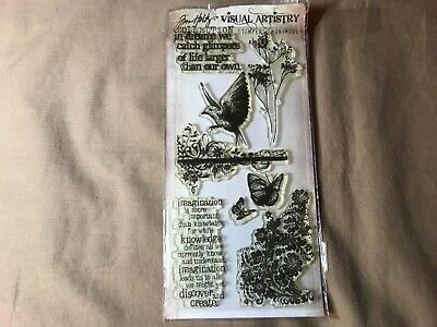 Visual Artistry Collection Stampers Anonymous Rubber Stamp Tim Holtz The Journey