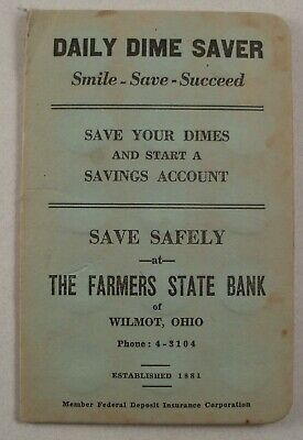 Wimot Ohio Dime Saver The Farmers State Bank Phone 4-3104 Advertising