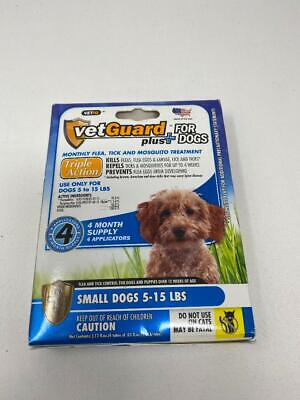 VetGuard Plus Flea & Tick Treatment for Small Dogs 5-15 lbs 4 Month Supply