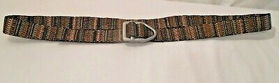 Bison Size L Striped Design Belt Made USA not Intended for Climbing