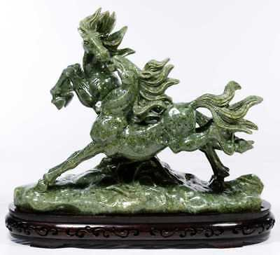 Large and Heavy Antique Chinese Jade/Hardstone Carved Horse Statue