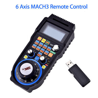 WHB04B CNC MACH3 6 Axis Handheld Wireless Handwheel Controller Manual MPG Remote