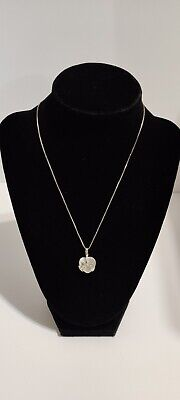 """Moonstone and Sterling Silver Heart Pendant 16 1/2"""" Necklace"""