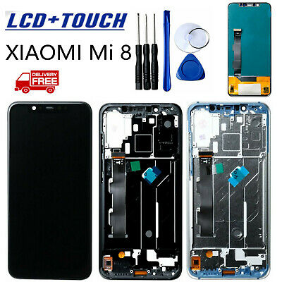 OEM For Xiaomi Mi 8 LCD Display Touch Screen Digitizer Glass  Assembly Frame