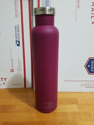 Seven Fifty Burgundy Vacuum-Insulated Stainless Steel Wine Growler 750 mL Capacity