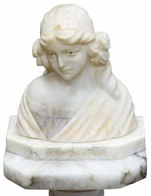 Giovane Sposa (Italian, 20th Century) Carved Alabaster Bust