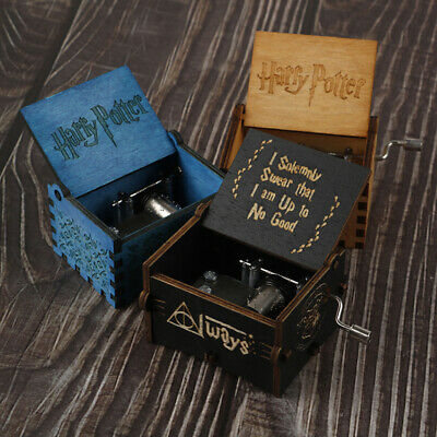 Harry Potter Game Of Thrones Game Box Wood Game Clock Music Box GiftBLUS