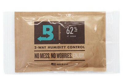 Boveda 62% RH (67 GRAM) 2 Way Humidity Control - 2 PACK - Individually Wrapped