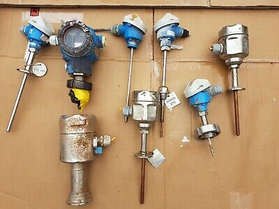 Lot of 8 Endress & Hauser Temperature and Pressure Transmitters FMB 4-20mA