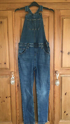 Girls John Lewis Long Stretch Denim Dungarees, 10 Years Excellent Con