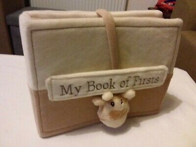 M&S My Book of Firsts Soft Baby Keepsake Record Giraffe