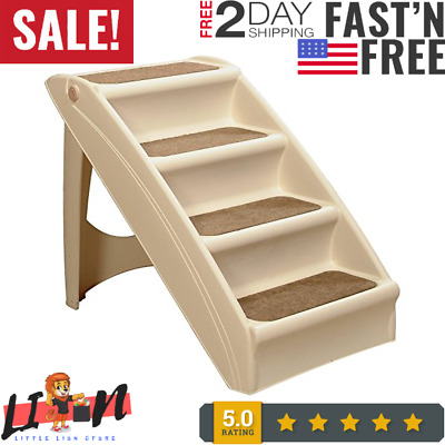 Pet Dog Folding Stairs Tall High Bed Car Ladder Ramp Steps Portable