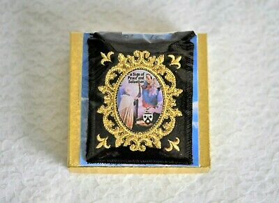 Brown Scapular of Our Lady of Mt. Carmel, Embroidered,Blessing Record & Promise
