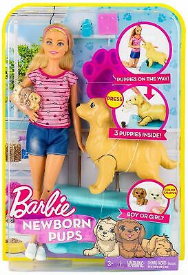 Barbie Newborn Pups Doll and Pets Playset Blonde