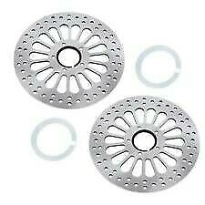HardDrive Drilled Vented Front Rotor Stainless Steel for Harley 144604