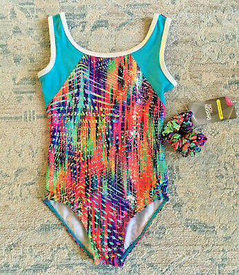 Danskin Now Girls Metallic Leotard w/ Scrunchie Size XS 4-5 NWT