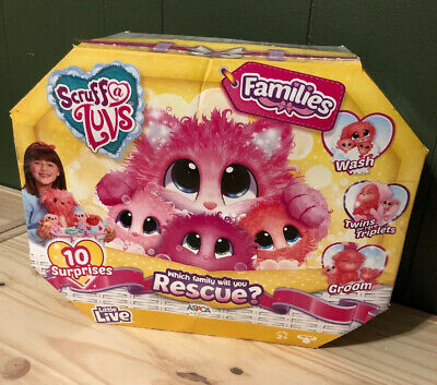 Authentic Little Live Pets Scruff A Luvs Families! . NEW ( Open Damaged Box)