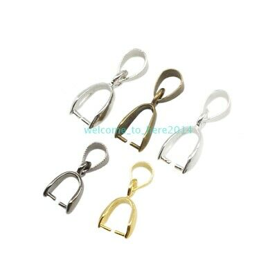 For DIY Jewelry Making Making Materials Pinch Clip Bail Connector Pendant